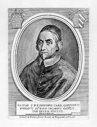 Gaspare Carpegna - Image: Cardinale Gaspare Carpegna
