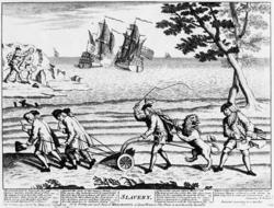 El sitio de Cartagena de Indias. 250px-Caricature_Slavery_1738