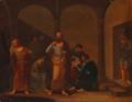 Carl Martin Intz - Sokrates som udtømmer Giftbægeret - 1816.png