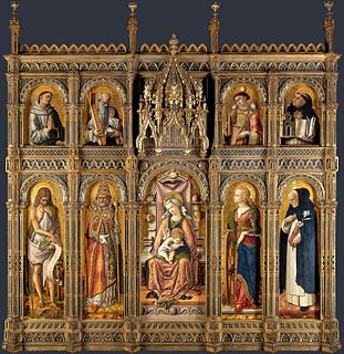 divided polyptych by Carlo Crivelli