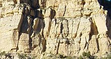 Cream colored cliff face