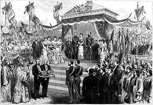Regalia of Romania - Image: Carol I Coronation