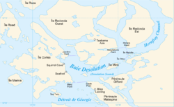 Carte de la baie Desolation.