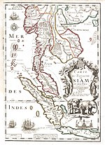 1686 Map of the Kingdom of Siam