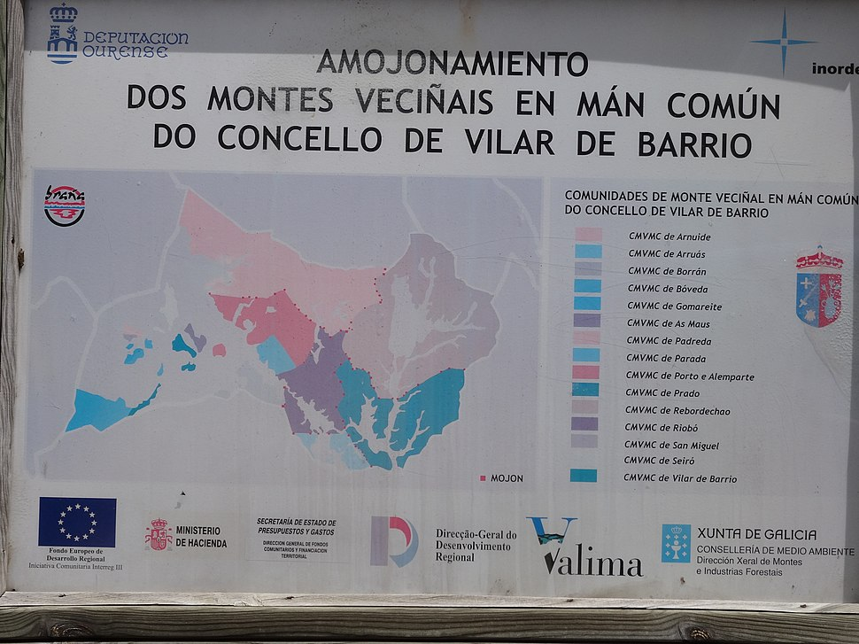 Cartel San Pedro, As Maus, Vilar de Barrio
