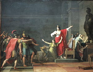 Olympias - Cassandre et Olympias by Jean-Joseph Taillasson (1745-1809)