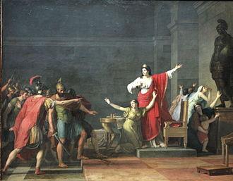 Olympias - Cassandre et Olympias by Jean-Joseph Taillasson (1745-1809)