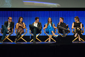 Agents of S.H.I.E.L.D. - Agents of S.H.I.E.L.D. cast members (L-R: Gregg, Wen, Dalton, Bennet, De Caestecker, and Henstridge) at PaleyFest 2014