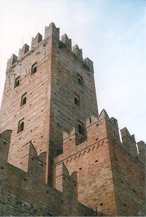 Castell'Arquato - The tower of the Visconti Castle.