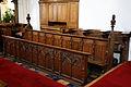 Castle Hedingham, St Nicholas' Church, Essex England, choir stalls and misericords.jpg