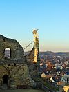 castle valkenburg - view with weather vane
