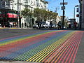 Castro Street with Rainbow Ped Crossing.JPG