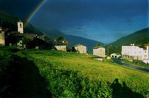 Bellino - View of the frazione of Celle.