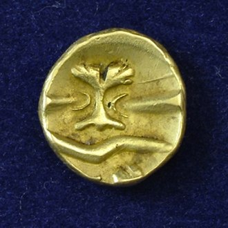 Morini - Celtic Gaul, uniface gold 1/4 stater, attributed to the Morini tribe.