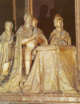 Isabella of Portugal - The bronze effigies of Charles and Isabella at the Basilica in El Escorial