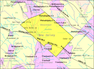 Franklin Township, Gloucester County, New Jersey - Image: Census Bureau map of Franklin Township, Gloucester County, New Jersey