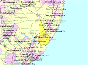 Little Egg Harbor Township, New Jersey - Image: Census Bureau map of Little Egg Harbor Township, New Jersey