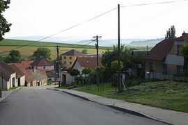 Center of Lomy, Třebíč District.JPG