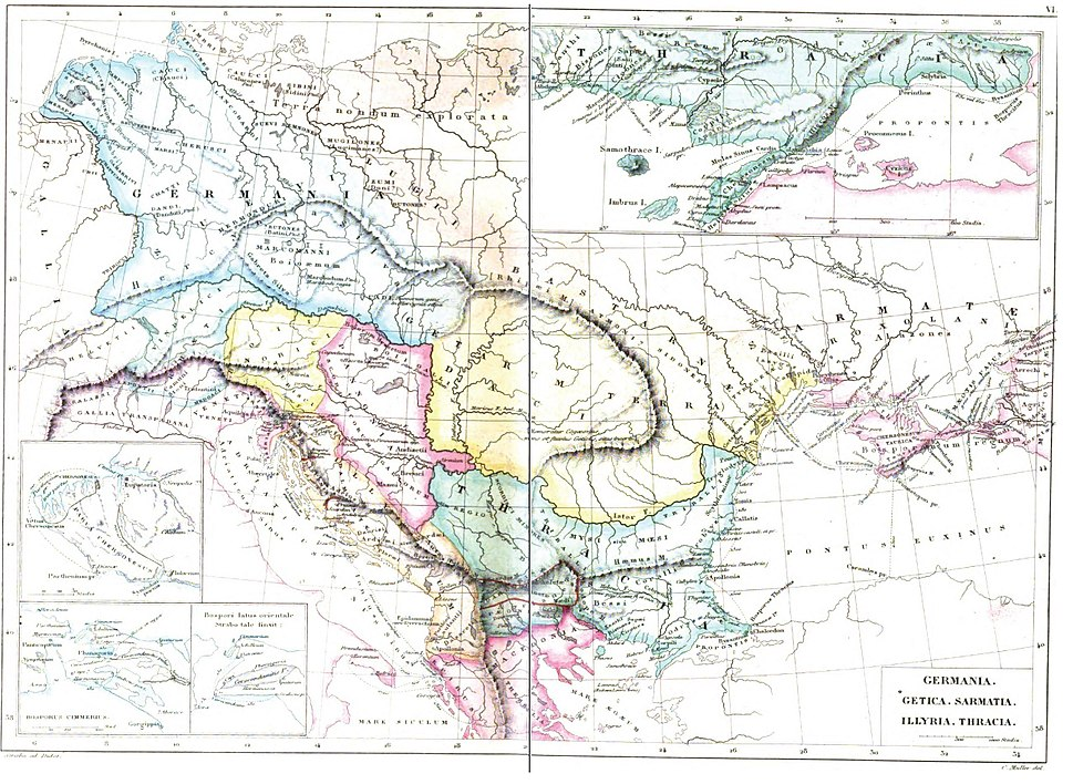 Central and Eastern Europe at the time of Augustus 6 AD