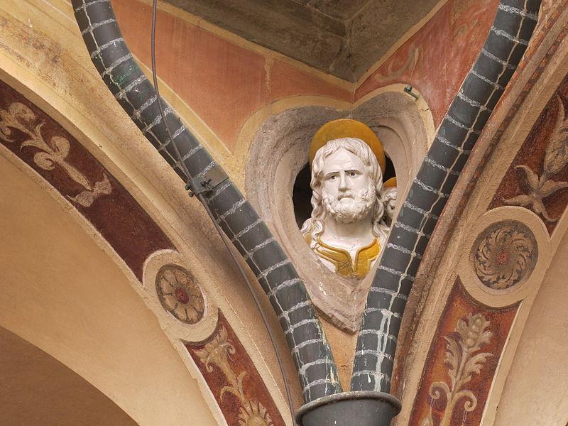 File:Certosa di fi, chiostro grande, tondi santi di giovanni della robbia 10 san matteo.JPG