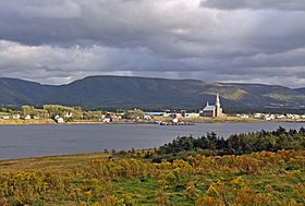Chéticamp, vue de l'île de Chéticamp