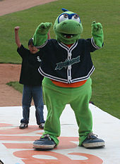 Mascotte des Lake Monsters du Vermont.