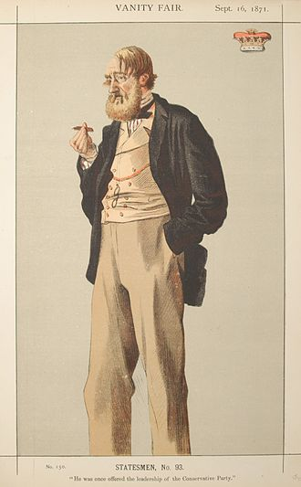 Charles Manners, 6th Duke of Rutland - Caricature by Coïdé published in Vanity Fair in 1871.
