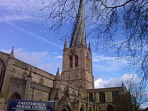 Church of St Mary and All Saints, Chesterfield - Image: Chesterfield Parish Church