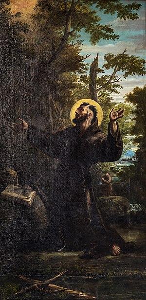 Lattanzio Querena - Image: Chiesa del Nome di Gesù Venice Francis of Assisi by Lattanzio Querena
