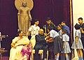 Children tying 'Rakhi' on the President, Shri Ram Nath Kovind's wrist, on the occasion of 'Raksha Bandhan', at Rashtrapati Bhavan, in New Delhi on August 07, 2017. Mrs. Savita Kovind, First Lady of India is also seen.jpg