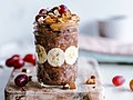 Chocolate Oatmeal + Fruits (30863438117).jpg