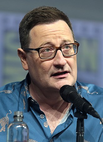 Chris Chibnall - Chris Chibnall at the 2018 San Diego Comic-Con