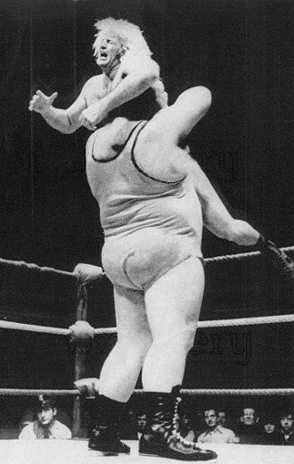 Rene Goulet - Goulet (top) vs. Chris Taylor in 1973