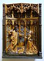 Christ appears to Mary Magdalene (Noli me tangere), Brussels, early 1500s, shrine probably 1800s, oak, polychrome - Museum Schnütgen - Cologne, Germany - DSC00037.jpg