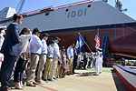 Christening of USS Michael Monsoor (DDG-1001) at Bath Iron Works on 18 June 2016.JPG