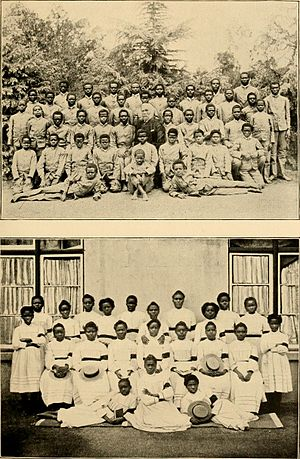 Oromo people - In the 19th century, some Christian missions and European anti-slavery activists began intercepting slave ships at sea. Above, Oromo slaves rescued in 1897 and resettled in South Africa.