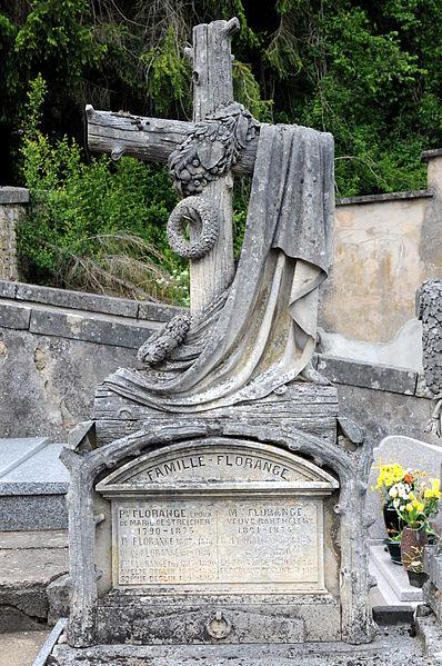 Tombeau Famille Florange au cimetière d'Ottange.