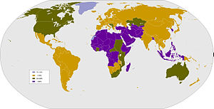 Map showing percentage of males circumcised by...