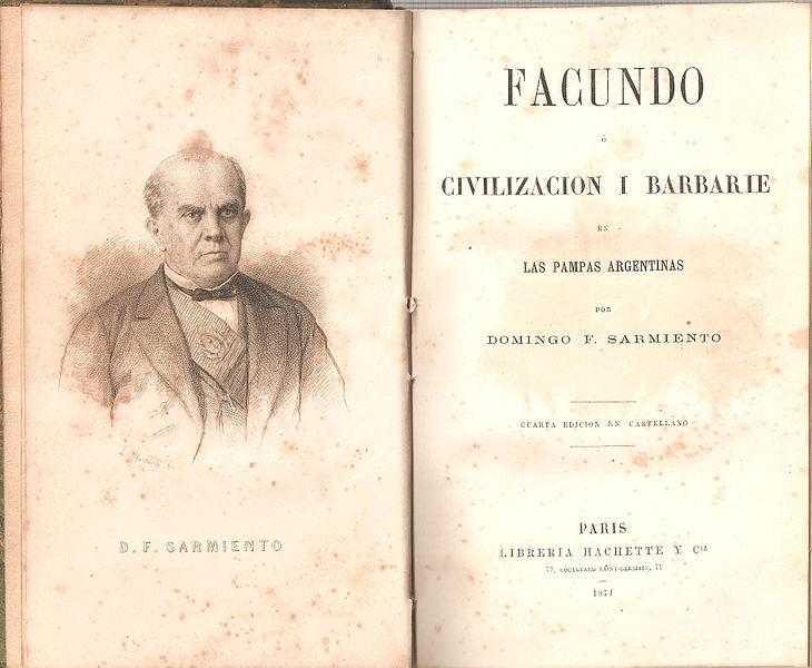 File:Civilización y Barbarie Sarmiento portada.jpg