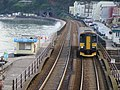 Class 153 (single carriage train) approaching Dawlish station - geograph.org.uk - 1856158.jpg