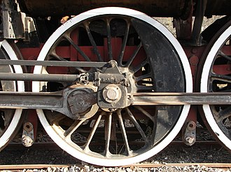 South African Class 16E 4-6-2 - The drive shafts that turn the poppet valve camshafts are no different from those found under most rear wheel drive cars and trucks