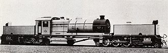 South African Class GE 2-8-2+2-8-2 - First batch Class GE no. 2264, c. 1924