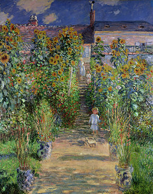 Alice Hoschedé - Claude Monet, Monet's garden at Vétheuil, 1880, Michel Monet and Jean-Pierre Hoschedé