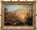 Claude lorrain, porto di mare con sole al tramonto, 1639.jpg