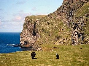 Foula - Cliffs on Foula.
