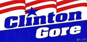 Bill Clinton presidential campaign, 1992 - Image: Clinton Gore 1992