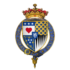 Coat of Arms of Sir James Douglas, 9th Earl of Douglas, KG.png