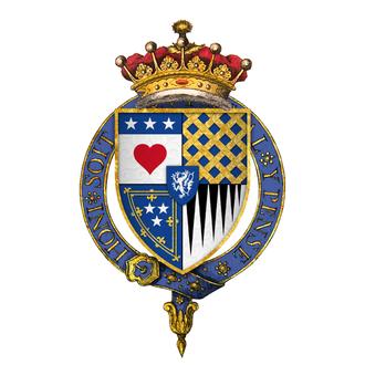 James Douglas, 9th Earl of Douglas - Quartered arms of Sir James Douglas, 9th Earl of Douglas, KG