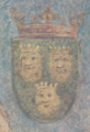 Coat of arms of Dalmatia from 1495 (Innsbruck).png