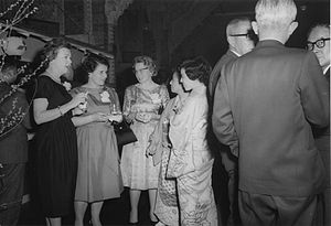 Cocktail party - A cocktail party At The Imperial Hotel, Tokyo, Japan, March 13, 1961